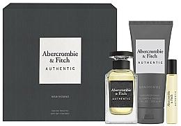 Parfums et Produits cosmétiques Abercrombie & Fitch Authentic Men - Coffret (eau de toilette/100ml + eau de toilette/15ml + gel nettoyant pour corps et cheveux/200ml)