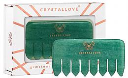 Parfums et Produits cosmétiques Peigne de massage du cuir chevelu en aventurine - Crystallove Aventurine Comb
