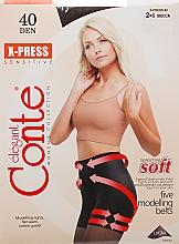 Parfums et Produits cosmétiques Collant pour femme, X-press, 40 Den, mocca - Conte