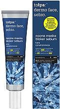 Parfums et Produits cosmétiques Masque de nuit à la boue et écorce de cannelle pour visage - Tolpa Dermo Face Sebio Night Blocker Sebum Mask