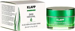 Parfums et Produits cosmétiques Masque à l'aloe vera pour visage - Klapp Skin Natural Aloe Vera Mousse Mask