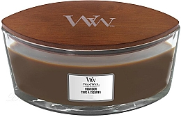 Parfums et Produits cosmétiques Bougie parfumée ellipse avec mèche en bois, Cave à cigares - WoodWick Humidor Ellipse Scented Candle