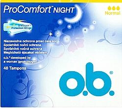 Parfums et Produits cosmétiques Tampons, 48 pcs - O.b. ProComfort Night Normal