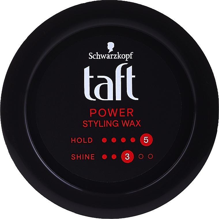 Cire coiffante à l'extrait de caféine pour cheveux - Schwarzkopf Taft Power Wax