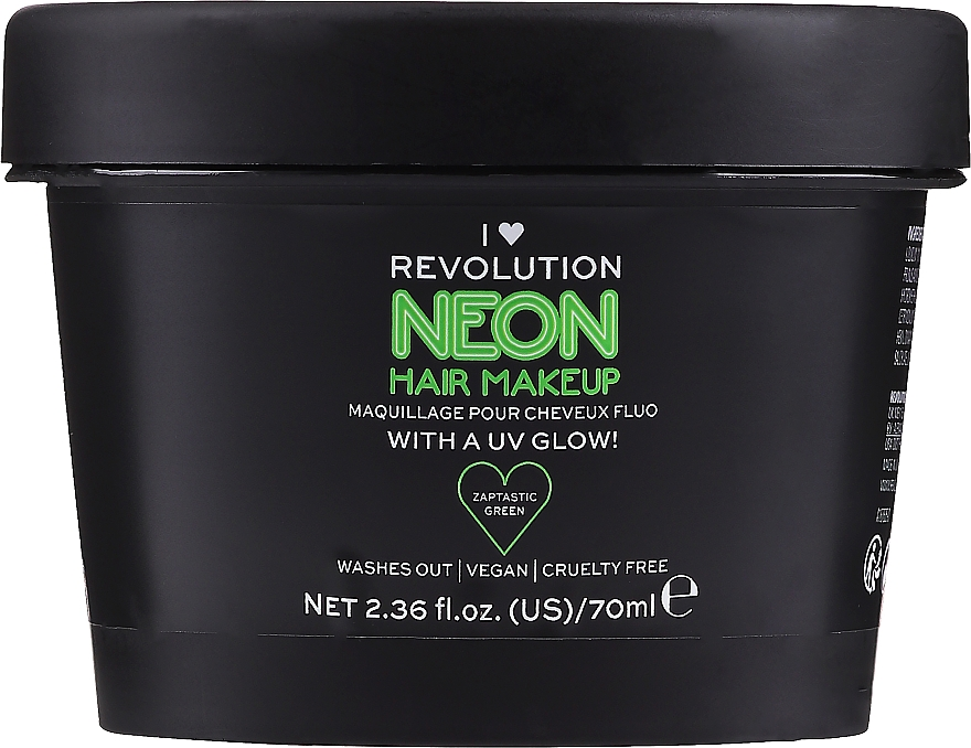 Coloration temporaire lavable - I Heart Revolution UV Neon Hair Make Up