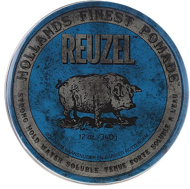 Pommade soluble à l'eau tenue forte - Reuzel Blue Strong Hold Water Soluble High Sheen Pomade