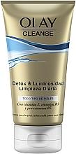 Parfums et Produits cosmétiques Gel nettoyant et détoxifiant à la vitamine E et B3 pour visage - Olay Cleanse Detox & Luminosity Facial Cleansing Gel