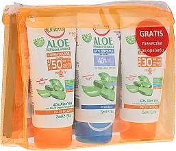 Parfums et Produits cosmétiques Equilibra Aloe Line - Set(crème/75ml + lait corps/75 + crème/75ml + trousse de toilette)