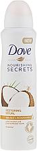 Parfums et Produits cosmétiques Déodorant spray anti-transpirant, Noix de coco et Jasmin - Dove Nourishing Secrets Restoring Ritual