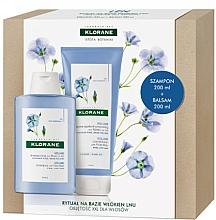 Parfums et Produits cosmétiques Klorane Flax Fiber - Set (shampooing/200ml + après-shampooing/200ml)