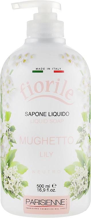 Savon liquide pour mains et corps, Lys - Parisienne Italia Fiorile Lily Liquid Soap