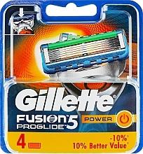 Parfums et Produits cosmétiques Lames de rechange, 4pcs - Gillette Fusion ProGlide Power