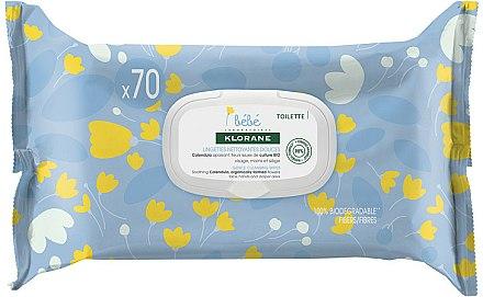 Lingettes nettoyantes douces au calendula apaisant pour bébé - Klorane Bebe Gentle Cleansing Wipes — Photo N1