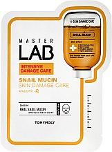 Parfums et Produits cosmétiques Masque tissu à l'extrait de bave d'escargot pour visage - Tony Moly Master Lab Snail Mucin Mask