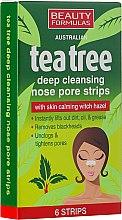 Parfums et Produits cosmétiques Patchs purifiants au thé vert pour le nez - Beauty Formulas Tea Tree Deep Cleansing Nose Pore Strips