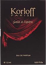 Parfums et Produits cosmétiques Korloff Paris Gala A L'Opera - Eau de Parfum (échantillon)