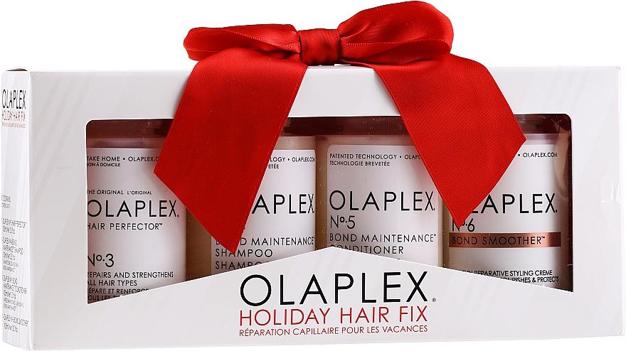 Olaplex Holiday Hair Fix - Coffret cadeau (après-shampooing/100ml + shampooing/100ml + crème coiffante/100ml + sérum/100ml)