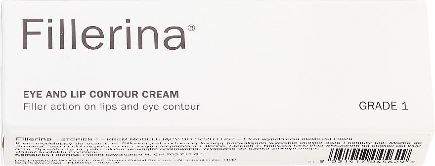 Crème à la vitamine E pour contour des yeux et lèvres, niveau 1 - Fillerina Eye And Lip Contour Cream Grade 1