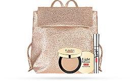 Parfums et Produits cosmétiques Pupa Vamp! & Light Infusion 2019 - Set (mascara volume démesuré/9ml + illuminateur de teint/4g + sac à dos)