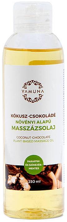 Huile de massage à l'extrait de plantes, Noix de coco et Chocolat - Yamuna Coconut-Chocolate Plant Based Massage Oil
