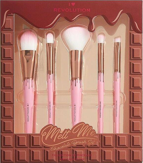 Kit pinceaux de maquillage - I Heart Revolution Chocolate Brush Set