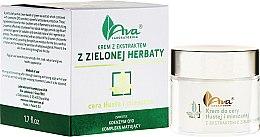 Parfums et Produits cosmétiques Crème à l'extrait de thé vert et coenzyme Q10 pour visage - Ava Laboratorium Green Tea Cream For Oily To Combination Skin