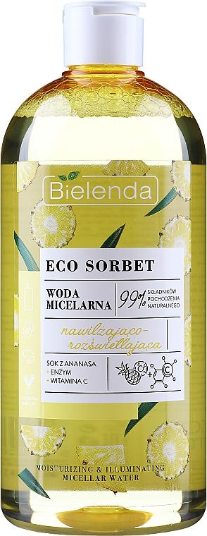 Eau micellaire à la vitamine C - Bielenda Eco Sorbet Moisturizing&Illuminating Micellar Water