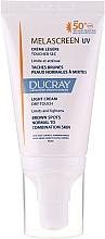 Parfums et Produits cosmétiques Crème légère anti-taches pigmentaires pour visage - Ducray Melascreen UV Light Cream SPF 50+