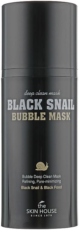 Masque à bulles à l'extrait d'escargot et charbon actif - The Skin House Black Snail Bubble Mask — Photo N2