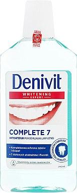 Bain de bouche antibactérienne aux extraits d'herbes et fluorure - Denivit Whitening Expert Complete 7 Mouthwash