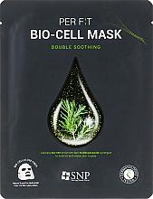 Parfums et Produits cosmétiques Masque bio-cellulose à l'extrait d'arbre à thé pour visage - SNP Double Synergy Soothing Bio-Cell Mask