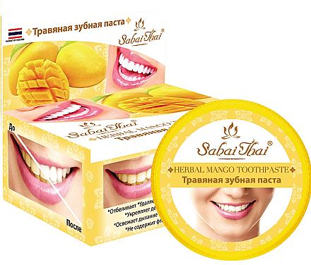 Dentifrice aux herbes et à la mangue - Sabai Thai Herbal Mango Toothpaste