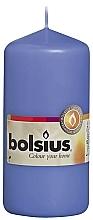 Parfums et Produits cosmétiques Bougie cylindrique bleue, 120/58 mm - Bolsius Candle