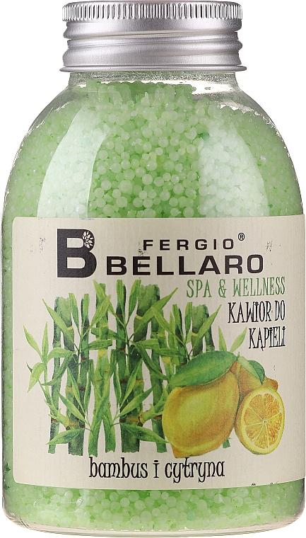 Caviar de bain, Bambou et Citron - Fergio Bellaro Bamboo and Lemon Bath Caviar