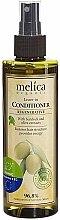 Parfums et Produits cosmétiques Après-shampooing aux extraits de bardane et olive, sans rinçage - Melica Organic Leave-in Regenerative Conditioner