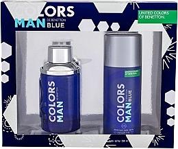 Parfums et Produits cosmétiques Benetton Colors Man Blue - Set (eau de toilette/100ml + déodorant spray/150ml)