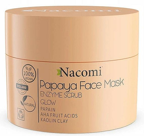 Masque exfoliant à l'argile blanche pour visage - Nacomi Papaya Face Mask Enzyme Scrub
