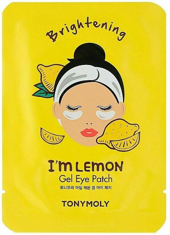 Patchs gel éclaircissants à l'extrait de citron pour contour des yeux - Tony Moly Refreshing Im Lemon Eye Mask — Photo N1