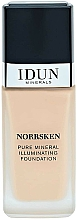 Parfums et Produits cosmétiques Fond de teint - Idun Minerals Norrsken Illuminating Liquid Mineral Foundation