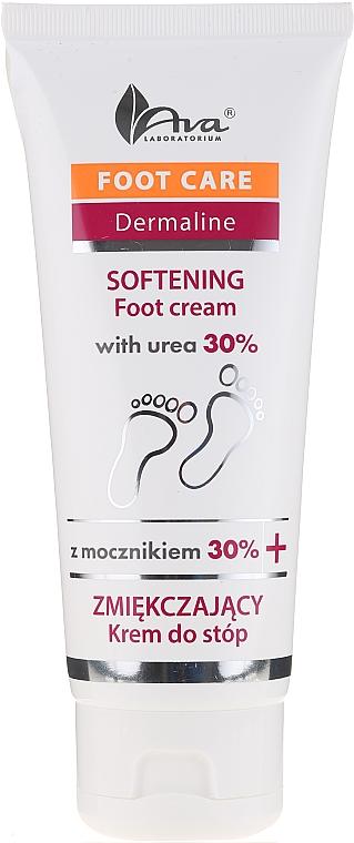 Crème à l'urée 30% pour pieds - Ava Laboratorium Foot Care Dermaline Softening Foot Cream With Urea 30%