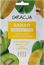 Parfums et Produits cosmétiques Masque en tissu énergissant pour visage, Banane et kiwi - Gracja Energizing Mask