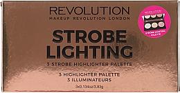 Parfums et Produits cosmétiques Palette d'enlumineurs - Makeup Revolution 3 Strobe Highlighter Palette