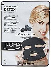 Parfums et Produits cosmétiques Masque tissu détoxifiant au charbon actif pour visage - Iroha Nature Detox Black Tissue Mask Charcoal