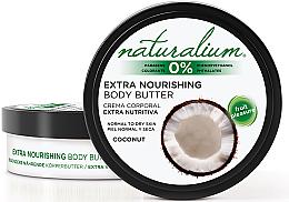 Parfums et Produits cosmétiques Beurre corporel nourrissant pour peaux normales et sèches, noix de coco - Naturalium Coconut Extra Nourishing Body Butter