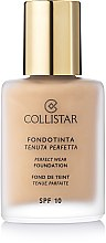 Parfums et Produits cosmétiques Fond de teint tenue parfaite - Collistar Perfect Wear Foundation SPF 10
