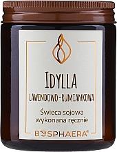 Parfums et Produits cosmétiques Bougie parfumée de soja, Camomille et Lavande - Bosphaera
