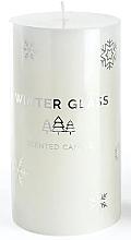 Parfums et Produits cosmétiques Bougie parfumée 7x8cm, blanc - Artman Winter Glass