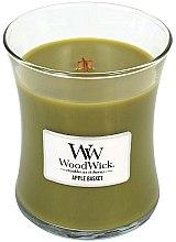 Parfums et Produits cosmétiques Bougie parfumée en jarre avec mèche en bois Panier de pommes - WoodWick Hourglass Candle Apple Basket
