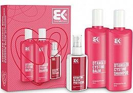 Parfums et Produits cosmétiques Brazil Keratin Dtangler Cystine - Set(shampooing/300ml + après-shampooing/300ml + spray protecteur/100ml)