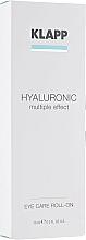 Parfums et Produits cosmétiques Roll-on anti-rides à l'acide hyaluronique pour contour des yeux - Klapp Hyaluronic Eye Roll-On